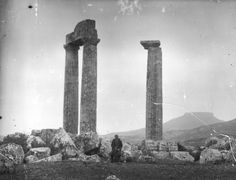 GREECE Nemea, The Temple of Zeus. This photograph was taken by Nicholson Museum curator William J Woodhouse in Greece between 1890 and Queen's College, Museum Curator, Greece Travel, Seattle Skyline, Geography, Temple, Photograph, England, Explore