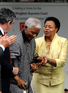 Nelson Mandela and Graca Machel Unveiling of Nelson Mandela's statue in Parliament Square