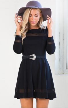 Total Mesh dress in black | SHOWPO Fashion Online Shopping
