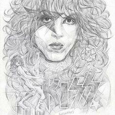 Kiss World, Creepy Comics, Kiss Rock Bands, Rock Poster, Kiss Art, Paul Stanley, Hot Band, Celebrity Drawings, Rabbit Art