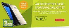 Galaxy S7 für 1€ mit o2 BASE All-in M - 3GB LTE http://www.simdealz.de/o2/galaxy-s7-mit-base-allin-m/