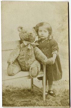 Teddy bear love | Vintage photo postcard. | Crafty Dogma | Flickr