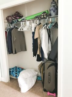 Learn how to create a super functional closet for your kids (or yourself) by customizing an IKEA closet organizer.