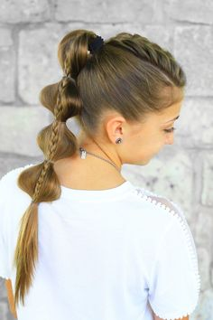 Stacked Bubble Braid   Back to School   Cute Girls Hairstyles