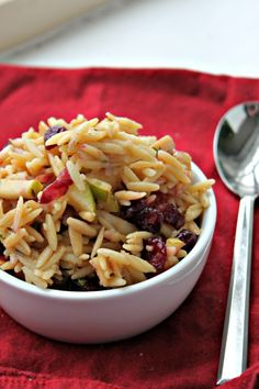 Apple, Cranberry, and Orzo Salad