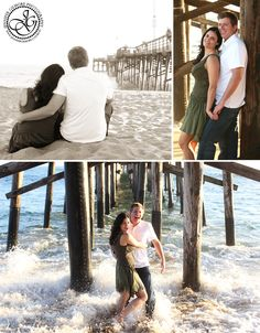 balboa beach newport engagement photography ideas, ocean, water, pier, soaked! Gilmore Studios