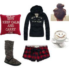 pajamas and coffee♥