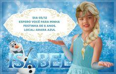 convites de aniversário da Frozen para personalizar
