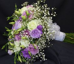 White Roses, lavender roses, lavender lisianthus and babies breath Wedding 2015, Wedding Bride, Babies Breath, Lavender Roses, Bride Bouquets, Plan Your Wedding, White Roses, Brides, Floral Wreath