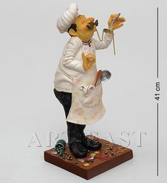 Bistro Kitchen, Wood Carving, Bookends, Chefs, Kitchen Ideas, Cooker, Baby Dolls, Decorating Kitchen, Cold Porcelain