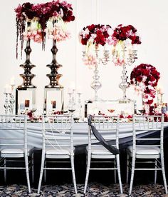 photographer: Butter Studios; Wedding reception centerpiece idea