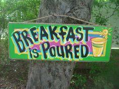 BREAKFAST is POURED Tropical Tiki Hut Bar by FRANSCOUNTRYNY, $23.95
