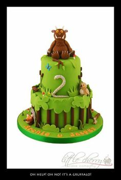Gruffalo cake - Little Cherry Cake Company Cupcakes, Cupcake Cakes, Gruffalo Party, 3rd Birthday Cakes, Birthday Ideas, Birthday Parties, Birthday Cards, Cherry Cake, Character Cakes