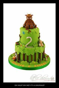 Gruffalo cake - Little Cherry Cake Company Gruffalo Party, 3rd Birthday Cakes, Birthday Ideas, Birthday Parties, Birthday Cards, Cherry Cake, Character Cakes, Cupcakes, Cakes For Boys