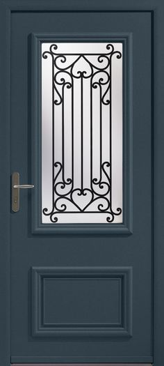 Athéna - Porte d\u0027entrée aluminium classique mi vitrée Bel\u0027M Portes