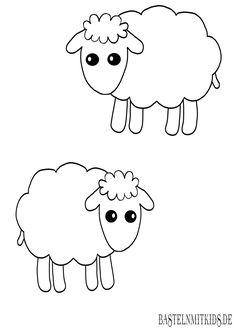 pin von hannah beckmann auf vorlage pinterest sheep cartoon sheep und clip art. Black Bedroom Furniture Sets. Home Design Ideas