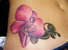 orchid tattoos / like no black outline - Google Search