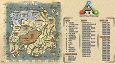 Ark Survival Evolved A High Quality Custom Map Of The Island By