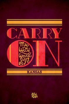 Kansas - Carry On My Wayward Son Print