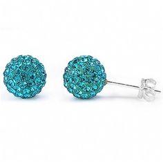 Pave Set Ball Stud Earrings