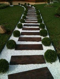 camino de piedras para jardin - Buscar con Google
