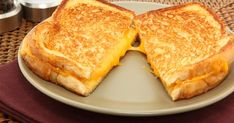 For the crispiest crust ever, don't use butter: that's right, you heard correctly! Grilled Cheese without using butter!  And it's super good!!