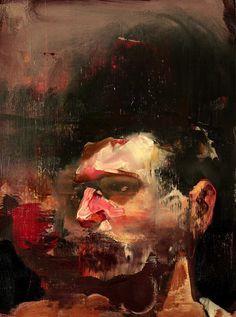 Adrian Ghenie | Self-Portrait No. 3, 2010. Oil on canvas, 46 × 34 cm.