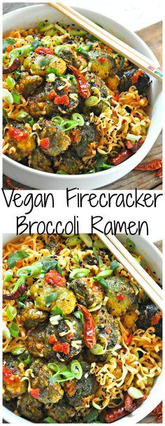 Vegan Firecracker Broccoli Ramen Vegan Firecracker Broccoli Ramen – Rabbit and Wolves - Delicious Vegan Recipes Vegan Foods, Vegan Dishes, Paleo Diet, Ramen Vegan, Pasta Recipes, Cooking Recipes, Vegetarian Recipes, Healthy Recipes, Delicious Vegan Recipes