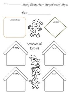 The Gingerbread Man story elements graphic organizer