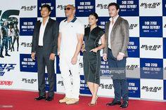 Actors Sung Kang Vin Diesel Michelle Rodriguez and Luke Evans attend... Fotografia de notícias | Getty Images