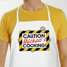 Caution Personalized BBQ Aprons