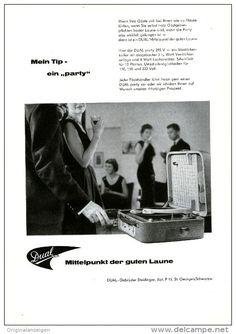 Original-Werbung/ Anzeige 1958 - 1/1 Seite - DUAL PARTY - PLATTENSPIELER - ca. 180 x 240 mm