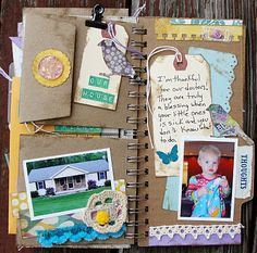 Gratitude Mini Album - More ideas to use in a Smashbook: Idea from http://mylittleblessings123.blogspot.com/2011/11/gratitude-mini-album.html