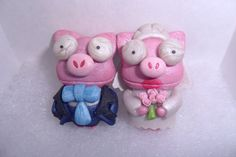 Mancuernas de Cerdito para Boda APERLADO Los Simpsons La boda de Lisa / The Simpsons Cufflinks Pig Lisa's Weeding