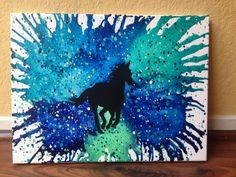 Horse melted crayon art