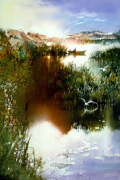 """Indian Summer of the Heart"" by Nita Engle. [Watercolor]"