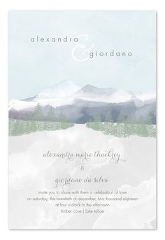 Majestic Mountains wedding invitation
