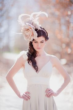 Beautiful headpiece by Kobus Dippenaar. Photography by By Rensche Mari.