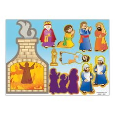 Shadrach, Meshach & Abednego Sticker Scenes are a fun way to teach kids about Jesus with this visual and interactive religious activity. Bible Story Crafts, Bible School Crafts, Bible Crafts For Kids, Preschool Bible, Sunday School Activities, Church Activities, Sunday School Crafts, Kids Church Lessons, Bible Lessons For Kids