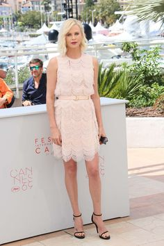 Charlize Theron in Givenchy at Cannes.