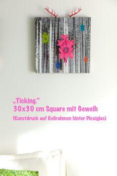 """Schwarzwald. Anders."" Square ""Ticking."" 30x30 cm  www.kindle-photography.de Kunstdrucke auf Keilrahmen hinter Plexiglas"