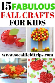 From making an apple banner to a fall handprint tree craft, these 15 Fabulous Fall Crafts For Kids are precisely what you need to start the fall off right! Leaf Crafts, Plate Crafts, Tree Crafts, Thanksgiving Crafts For Kids, Autumn Crafts, Holiday Crafts, Preschool Crafts, Diy Crafts For Kids, Non Toy Gifts