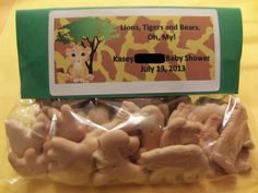 Lion King Baby Shower Animal Cracker Favor