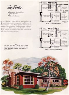 Mid Century Modern House Plans | Mid century Modern - Small House Architecture - 1952 National Plan ...