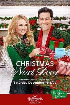 Its a Wonderful Movie - Your Guide to Family and Christmas Movies on TV: Christmas Next Door - a Hallmark Channel Original Countdown to Christmas Movie starring Jesse Metcalfe & Fiona Gubelmann! Hallmark Channel, Películas Hallmark, Films Hallmark, Hallmark Holiday Movies, Family Christmas Movies, Family Movies, Christmas Poster, John Tucker, Doors Movie
