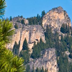 Montana State Parks : Painted Rocks is a scenic state park near Darby, #Montana.