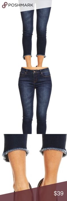 Trending must have - Fringed bottom denim jeans Fringed bottom denim jeans .  These jeans are comfortable and are stretchy.   This jean enhances the butt in every way.  Great jean no matter what size you wear, super comfortable and trendy with fringe detail.  Must have jean!  Second order and last order. Vendor completely sold out. These jeans are at a great price! enjean Jeans Skinny