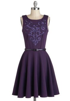 WANT!!! (Grape Kelly Dress, #ModCloth)