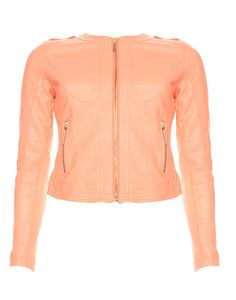 TRAFFIC CLOTHING | Jazmyn Jacket in Peach - - Style36 Red Leather, Leather Jacket, Festival Fashion, Must Haves, Peach, Athletic, Clothing, Jackets, Beautiful