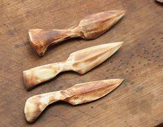 Bone ritual knives from solid bone magic Knife vicca tribal